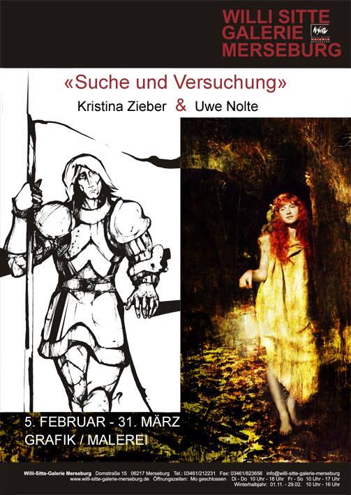 Plakat zur Ausstellung in der WS-Galerie, Merseburg (D)